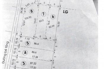 Trí BĐS, bán đất phân lô 7 nền, đường nhựa, 5x20m, 5x25m, thổ cư, giá từ 2 tỷ 100 triệu