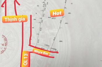 Bán đất QL13, P. Thới Hòa, Bến Cát giá chỉ 2,2tr/m2 giá quá rẻ so với thị trường