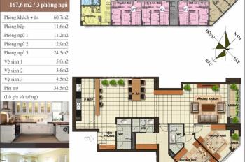 Bán cắt lỗ chung cư quận Hà Đông diện tích 158m2, bàn giao thô, sổ đỏ chính chủ, giá 2 tỷ bao phí