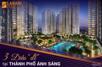 Giá 30tr/m2 mua trực tiếp giá gốc CĐT Nam Long không chênh lệch Akari City, LH: 0934.072.739