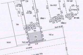 Bán nhanh lô đất mặt tiền Xuân Thuỷ, Quận 2, 9.12x29.8m, thích hợp xây văn phòng vị trí siêu đẹp