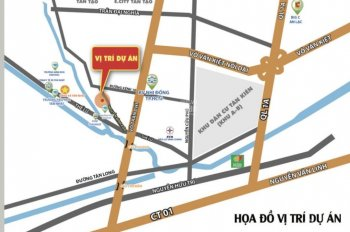 Đất dự án đã có sổ ngay đường dẫn cao tốc Tân Tạo - chợ Đệm, mua trực tiếp CĐT, LH: 0917 642 951