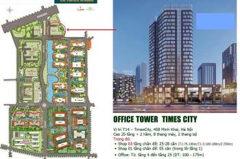 093.1234.688 Thuê sàn văn phòng thương mại tại Vincom Times City 458 Minh Khai, office tower Times