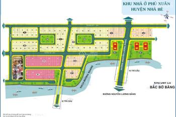 Bán đất nền BT sổ đỏ cty KDC Phú xuân Cảng SG dãy H DT 240m2, đường 25m, giá 24tr/m2, 0934179811
