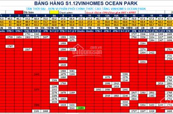 3PN, BC Đông Nam, căn hoa hậu biển hồ giá chỉ 2.604 tỷ tại Vinhomes Ocean Park. PKD: 0984 597 590