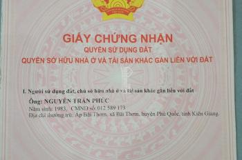Đất Bãi Thơm, Phú Quốc, diện tích 2000m2, giá bán 5tr/m2, mặt tiền rộng - 0978919129