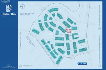 Bán cắt lỗ nhà liền kề - shophouse Harbor Bay 75m2; lô HB - 111; mặt đường to 25m; giá thỏa thuận