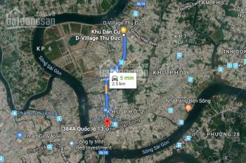 Nhà phố mặt tiền đường Quốc lộ 13. Gần KĐT Vạn Phúc, DT 100m2 chỉ từ 5,5 tỷ