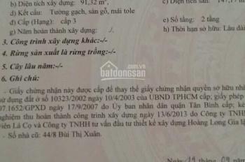 Định cư nước ngoài cần bán gấp, đường Bùi Thị Xuân, phường 3, Tân Bình. LH: 0902.67.62.63