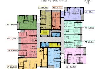 Anh Hiếu bán gấp chung cư Cầu Giấy Center Point căn 1508, DT 75.64m2, giá 33tr/m2. LH 0969749993