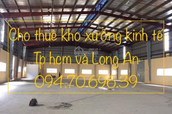 Cho thuê kho xưởng đường Trần Văn Giàu hiện có 4 kho đang trống. Diện tích: 500m, 700m, 1000m2