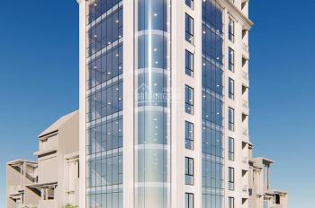 Bán tòa nhà mặt phố Phạm Tuấn Tài, căn góc, diện tích 145m2 x 8 tầng, MT 9.5m, kinh doanh đỉnh cao