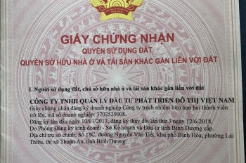 Cần bán gấp lô góc trong KDC cao cấp, mặt tiền ngay KDC Việt Sing, KCN Vsip 1, Bình Dương, SHR