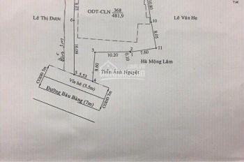 Lô góc biệt thự duy nhất MT đường Bàu Bàng, giá đầu tư: 0933292292