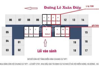 Bán suất ngoại giao kiot 19T1 - Lucky House - Kiến Hưng - Hà Đông giá cực tốt - LH: 0847.988958