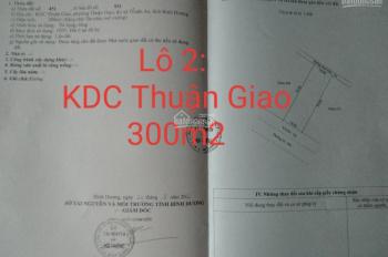 Bán 2 lô đất KDC Thuận Giao, 300m2 (10x30m) và 330m2 (10x33m) xây biệt thự, làm kho