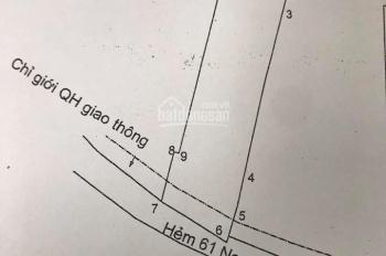 Bán lô đất hẻm ô tô 61 Nguyễn An Ninh, P6, TP Vũng Tàu, DT 111m2 đất ở 100%, ngang 5m, 3,3 tỷ