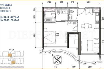 Kẹt tiền khách thân cần ra gấp căn hộ Waterina Suites, chênh cực nhẹ, giá rẻ hơn chủ đầu tư