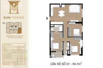 Bán căn góc cao cấp Tây Hồ Residence, 3.6 tỷ, 95m2/3PN, xem căn tầng trực tiếp. LH 0989.825.369