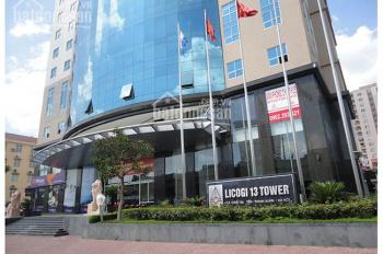 VP cho thuê tòa nhà Licogi 13, diện tích 100m2, 150m2, 200m2, 300m2, 650m2. Liên hệ 0966 365 383