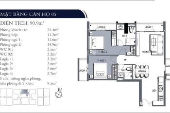 Chính chủ cần cho thuê căn hộ 90m2 full đồ tại dự án CCCC One 18, giá 14tr/th. LH 0968418881