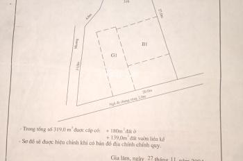 Bán đất tổ Yên Hà, TT. Yên Viên, Gia Lâm, HN DT: 50m2, vuông vắn rộng: 4m, dài: 12.5m, Đông Nam