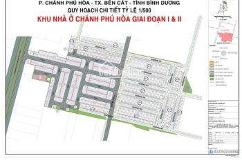Bán đất mặt tiền chợ Chánh Lưu, DT 741, Bến Cát, giá 650tr, LH 0936 712 684