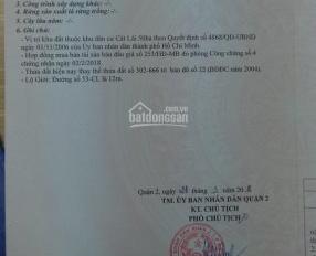 """Duy nhất 10 nền """"KDC Kiến Á"""", phường Cát Lái, Q2 DT 5x22m, sổ đỏ cá nhân, giá 30 tr/m2 0901.271.730"""