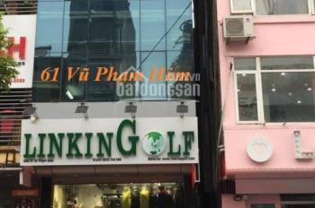 Cho thuê văn phòng mặt phố Vũ Phạm Hàm. DT: 80m2. LH: 0967 541 501