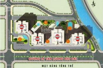 Bán căn góc 3PN, 98m2, cửa Tây Bắc, giá 1.75 tỷ tòa CT3 chung cư The Pride Hải Phát. LH 0934515659
