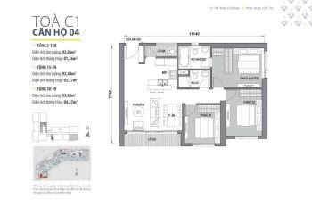 Bán căn hộ 3 phòng ngủ, giá 4 tỷ dự án D'capital Trần Duy Hưng. LH 0936198238