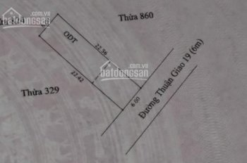 Bán lô đất mặt tiền buôn bán rầm rộ, ngang 6m tại đường Thuận Giao 19