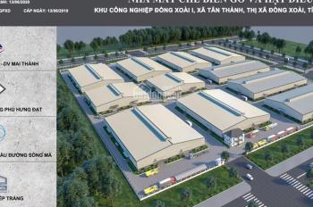 Cho thuê xưởng trong KCN Bình Phước, TDT 100.000m2, DTX 55.000m2, giá 51.000đ/m2
