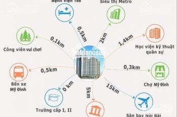 Bán gấp chung cư Mỹ Đình HD Mon City căn hộ 86m2, BC Đông Nam, tầng trung LH 0974762816