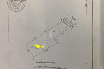Gia đình cần bán 221m2 nhà đất ở tại ngõ 89 đường Lạc Long Quân, Cầu Giấy, TP Hà Nội