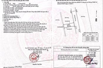 Cần tiền bán đất gấp, cầu Ba Phụ, phân lô chữ T, Thạnh Xuân 25, Quận 12