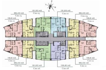 Bán căn góc 3PN, 118m2, cửa Đông Nam chung cư Văn Phú Victoria, giá 2,1 tỷ, LH 0934515659