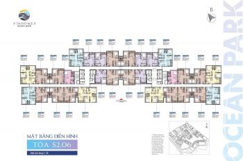 Giá siêu rẻ, bán gấp căn hộ 1PN+1 tòa S2.06 Vinhomes Ocean Park, view vườn thượng uyển, giá 1.25 tỷ