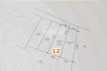 CC bán đất Dương Nội cực đẹp 47m2 nở hậu, vị trí đẹp, ngõ rộng, gần đường ô tô, giá chỉ 1 tỷ2