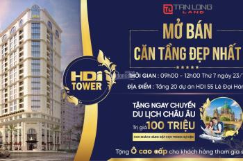 Mở bán căn tầng đẹp nhất HDI Tower 55 Lê Đại Hành, tặng ngay 100tr khi đặt cọc tại sự kiện mở bán