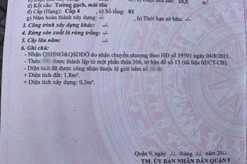 Chính chủ cần bán nhà riêng tại số 9 phường Long Bình Quận 9 lh 0368060699
