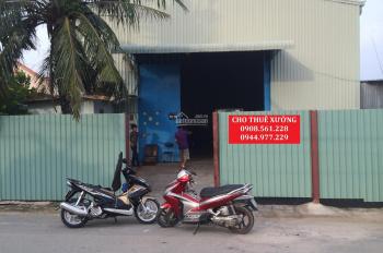 Cho thuê nhà xưởng DT: 450m2 giá 20 triệu/tháng, phường Thạnh Xuân, Quận 12. LH: 0908.561.228
