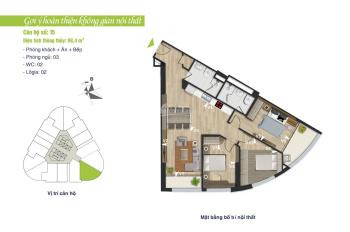 Bán cắt lỗ 100 triệu căn hộ 98.4m2 so với giá gốc tại tòa B VC2, kí HĐMB trực tiếp CĐT Vinaconex 2.