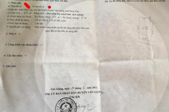 Chính chủ cần bán 275m2 đất tại Thôn Vĩnh Tuy Liên Nghĩa Văn Giang Giá rẻ.