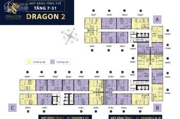 Cần bán CH Topaz Elite, block Dragon, 78m2, 2PN view trực diện hồ bơi tầng thấp tổng giá 2.356 tỷ