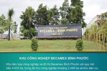 Đất khu đô thị công nghiệp Becamex Chơn Thành, Bình Phước, vị trí: Gần chợ, trường. LH: 0965084258