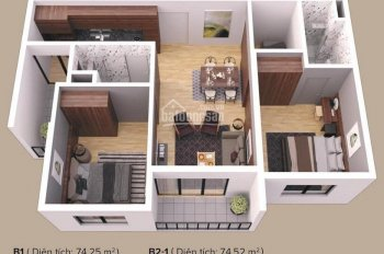 Gia đình mình cần bán căn hộ 2PN + 1 tòa Zen 76m2 giá thiện chí