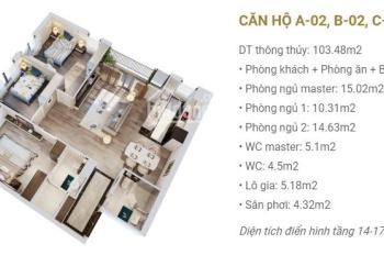 Bán căn hộ ngoại giao 02 tòa B nhận nhà ở luôn giá cực tốt ký HĐMB trực tiếp với CĐT. Lh:0987463546