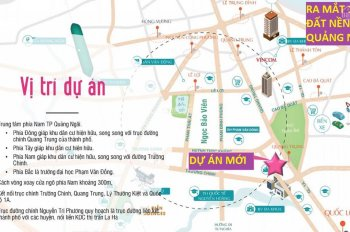 Bán đất trung tâm thành phố Quảng Ngãi đối lưng Trường Chinh, giá gốc CĐT, LH 0905985926