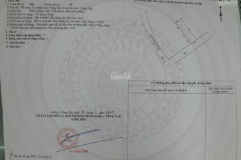 Chính chủ do cần vốn nên bán gấp lô đất Hàn Thuyên, Phường 10, Vũng Tàu, LH 0906622929